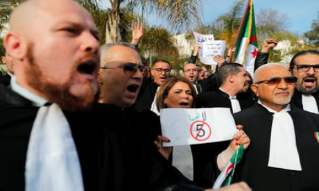 Lawyers protest, Algeria