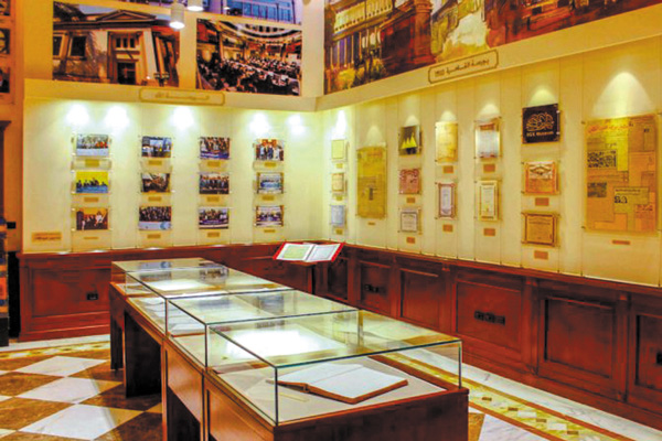 One of the              halls of the Egyptian Postal Museum