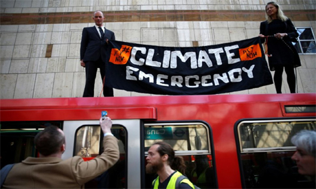 Climate change activists in London