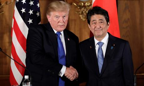 Trump, Abe
