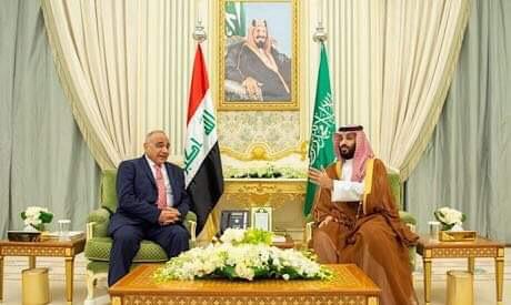 Mohammed bin Salman and Adel Abdul Mahdi