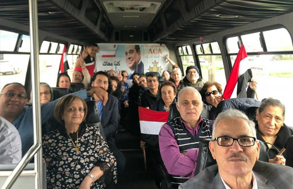 Egyptians hrading to vote in New Jersey, US