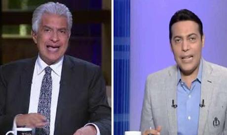 TV hosts Wael Al-Abrashi and Mohamed El-Gheity