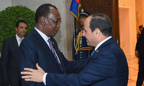 President Abdel Fattah El Sisi discussed cooperation with Chadian President Idriss Deby (Photo: .fac