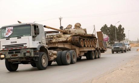 Tank belonging to GNA in Tripoli, Libya