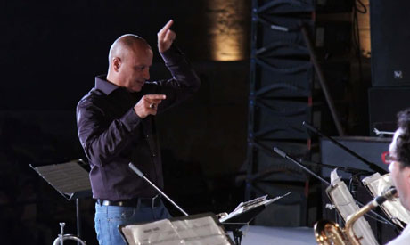 Egyptian conductor Magdy Boghdady leads his band
