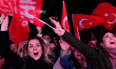 Supporters of CHP in Turkey