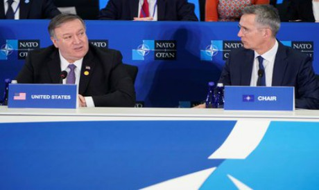 Mike Pompeo and Jens Stoltenberg