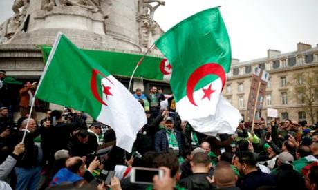 Protestors of the Algerian community in France