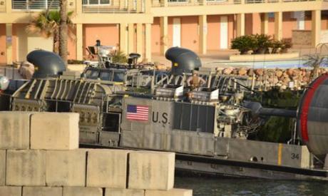 US amphibious hovercraft in Libya