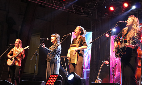 Shereen Abdo with T-Sisters
