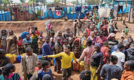 Displaced people in Ethiopia