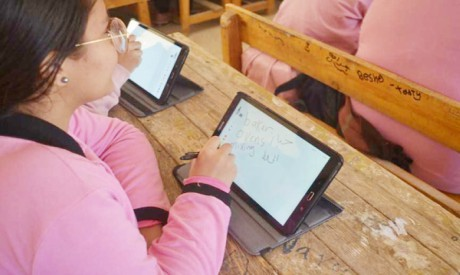 Examined with tablets