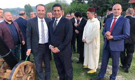 Aljowaily, Ambassador of Egypt at firing ceremony of the Iftar cannon in Novi Pazar with Rasim Ljaji