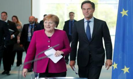 Angela Merkel and Mark Rutte