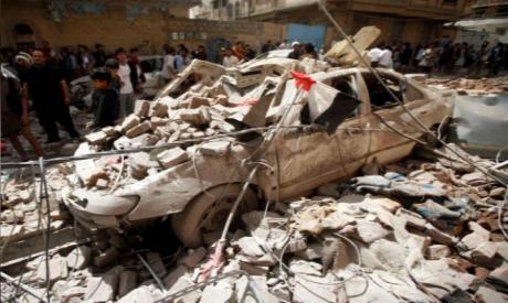 Saudi-led coalition strike in Sanaa