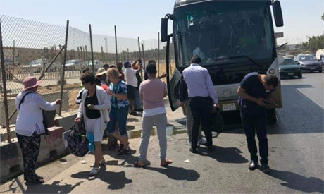 Foreign tourists hurt in bus blast near Egypt's pyramids