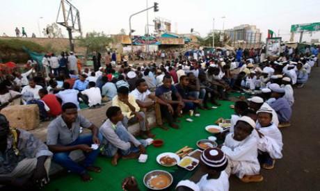 Sudanese Muslim protesters