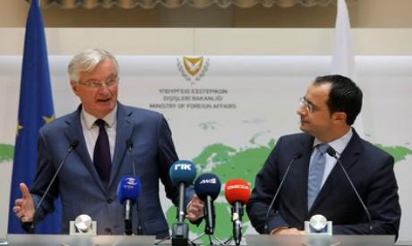 Nikos Christodoulides, Michel Barnier