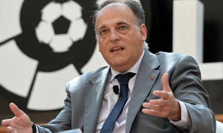 Outspoken La Liga chief Javier Tebas says Manchester City and Paris Saint Germain are toys of a stat