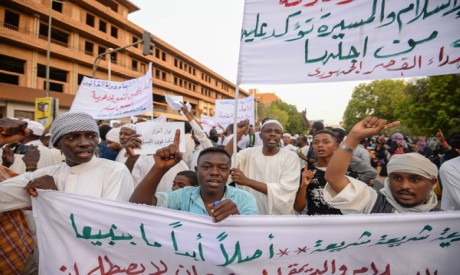 Supporters of Sudanese Islamist movements