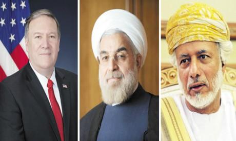 Pompeo, Rouhani, Qaboos