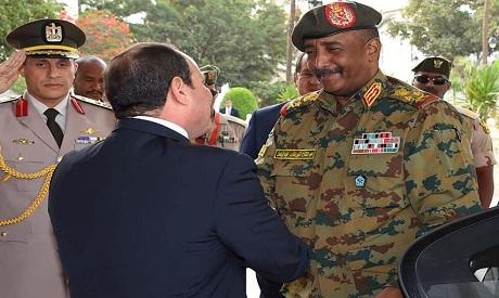 El-Sisi with al-Burhan