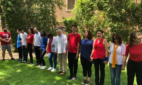flash mob performed by Armenian Ambassador Karen Levoni Grigorian, his wife Anna Haji-Hagopian and m