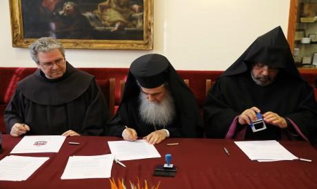 Francesco Patton, Metropolitan Theophilos and Nourhan Manougian