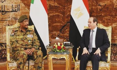 Abdel-Fattah Al-Sisi and Abdel-Fattah Al-Burhan