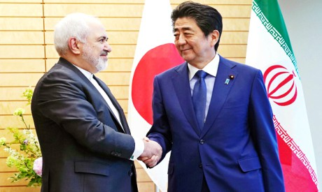 Mohammad Javad Zarif and Shinzo Abe