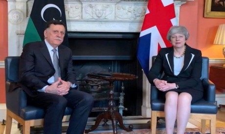 Fayez Al-Sarraj and Theresa May