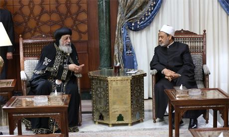 Pope Tawadros II, Shiekh Ahmed El-Tayyeb