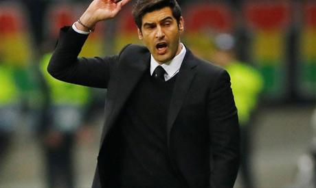 Shakhtar Donetsk coach Paulo Fonseca reacts (REUTERS)