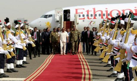 Abiy Ahmed arrives Sudan