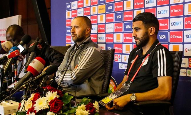 Djamel Belmadi and Riyad Mahrez