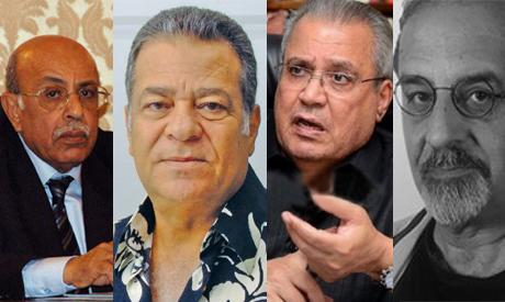 Moufid Shehab, Ahmed Nawwar, Gaber Asfour and Rasem Badran winners of the Nile Award