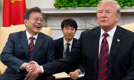 Moon Jae-in, Donald Trump