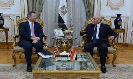 UK Trade envoy Donaldson, Min of Military Production El-Assar