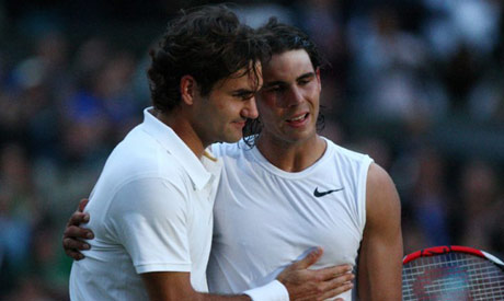 Roger Federer (left) has been seeded ahead of Rafael Nadal (right) for Wimbledon (AFP)