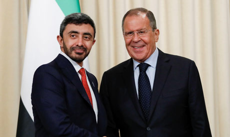 United Arab Emirates Foreign Minister Sheikh Abdullah bin Zayed Al Nahyan and Russia