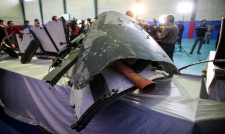 Wreckage of the American drone