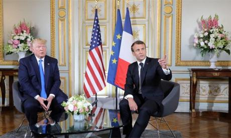 Trump,Macron