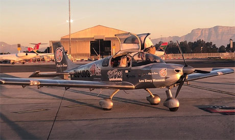 The assembled Sling 4 aircraft