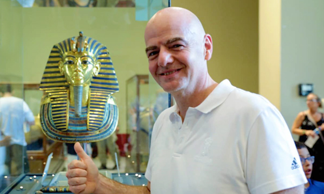 FIFA chief Infantino visits Egyptian Museum