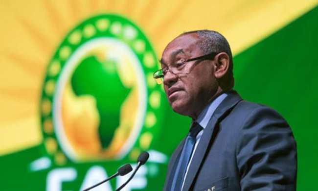 Ahmed Ahmed, president of the Confederation of African Football (AFP)
