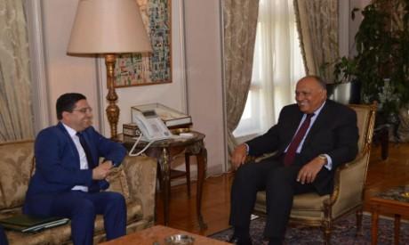FM Shoukry, FM Bourita