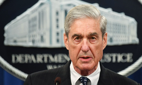 (FILES) In this file photo taken on May 29, 2019 Special Counsel Robert Mueller speaks  (AFP)