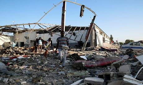 Migrants detention centre Tripoli