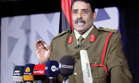 The spokesperson of the eastern-based Libyan National Army Ahmed Al-Mesmari